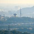 Photos: 西高森山の山頂から見た景色 - 15:桃花台中央公園と小牧山
