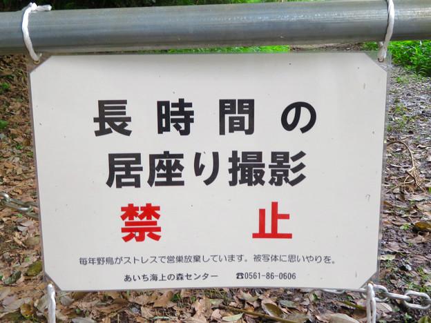 海上の森 - 46:入り口ゲートの注意書き