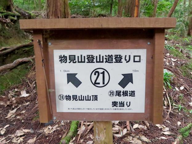 海上の森 - 77:物見山登山道登り口21番の案内板