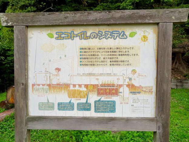 海上の森 - 109:里山サテライト「かたりべの家」横にあるトイレの説明