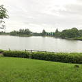大雨の影響で水かさが増えていた落合公園の落合池 - 4