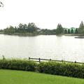 大雨の影響で水かさが増えていた落合公園の落合池 - 5