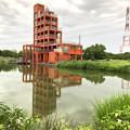 大雨の影響で水かさが増えていた落合公園の落合池 - 7
