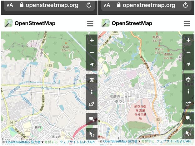 細かい川の名前も表示される「OpenStreetMap」- 3