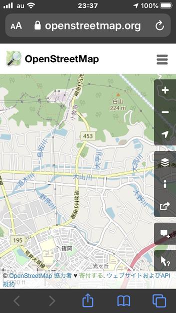 細かい川の名前も表示される「OpenStreetMap」- 1