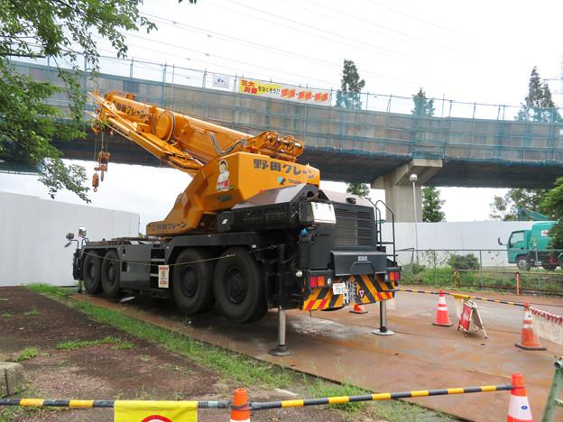 桃花台線の国道155号立体交差手前の高架撤去工事(2020年7月10日) - 1