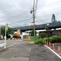 桃花台線の国道155号立体交差手前の高架撤去工事(2020年7月10日) - 5