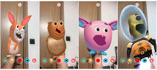ARでパペット人形が楽しめる「YoPuppet」- 18:選べる様々なキャラクター