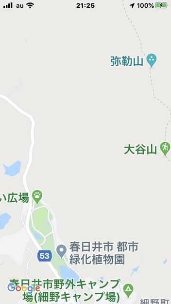 Googleマップでは弥勒山や大谷山の登山道は表示されない - 2