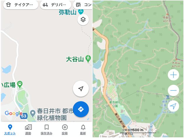 ローカルな登山道も表示される「OpenStreetMap」- 1