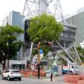 リニューアル工事中の名古屋テレビ塔:テレビ塔横に新たな建物!? - 2