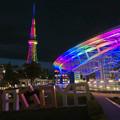カラフルな名古屋テレビ塔とオアシス21のイルミネーション - 2