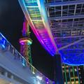 カラフルな名古屋テレビ塔とオアシス21のイルミネーション - 6