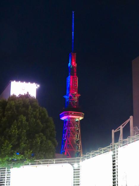 久しぶりにカラフルになってた名古屋テレビ塔のイルミネーション - 1