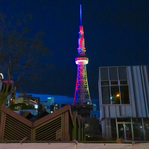 久しぶりにカラフルになってた名古屋テレビ塔のイルミネーション - 5