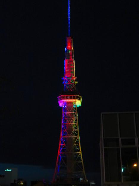 久しぶりにカラフルになってた名古屋テレビ塔のイルミネーション - 6
