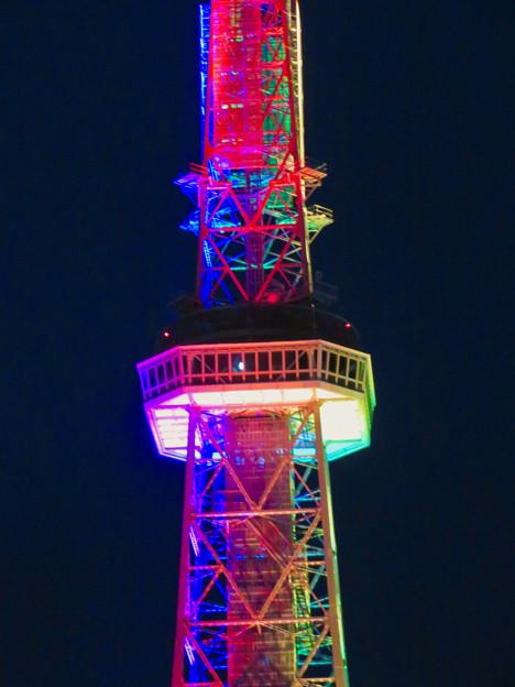 久しぶりにカラフルになってた名古屋テレビ塔のイルミネーション - 7