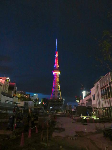 久しぶりにカラフルになってた名古屋テレビ塔のイルミネーション - 8
