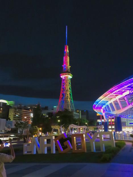 久しぶりにカラフルになってた名古屋テレビ塔のイルミネーション - 11