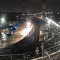 Photos: 夜の建設中のリニア中央新幹線 神領非常口(2020年7月18日)