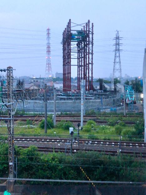 建設中のリニア中央新幹線 神領非常口(2020年8月8日)- 8