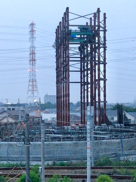 建設中のリニア中央新幹線 神領非常口(2020年8月8日)- 9