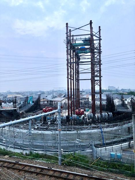 建設中のリニア中央新幹線 神領非常口(2020年8月8日)- 11