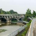 平池緑地 - 1:池に架かる特徴的な歩道橋