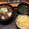 韓丼の上ハラミ丼 - 1(とサラダ)