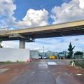 桃花台線の国道155号立体交差手前の高架撤去工事(2020年8月12日)- 3