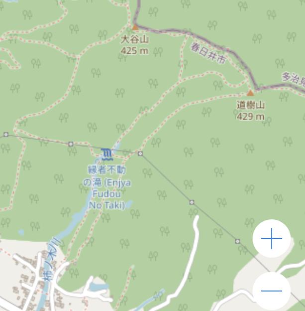 OpenStreetMap:道樹山と縁者不動の滝 - 2