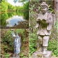 Photos: 道樹山:柿の木池、二宮金次郎像、縁者不動の滝 - 1