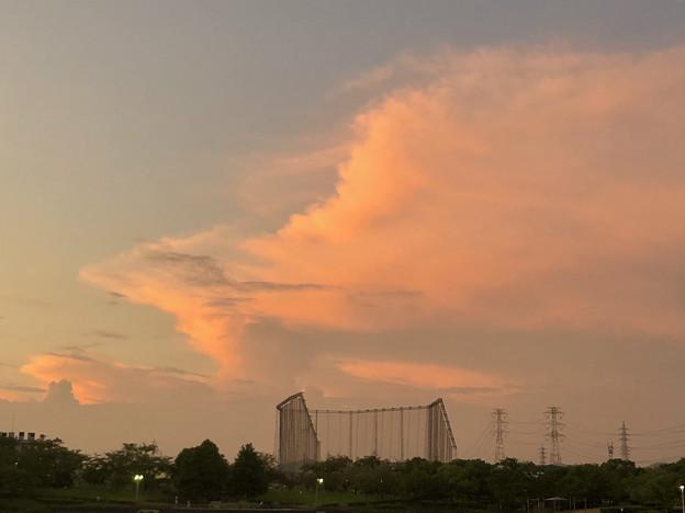 落合公園:夕暮れ時に棚引く雲 - 3