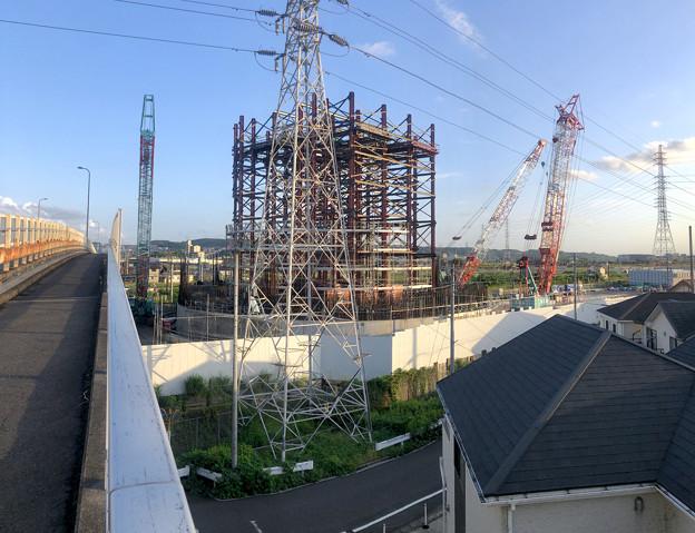 建設中のリニア中央新幹線 神領非常口(2020年9月8日) - 4:パノラマ