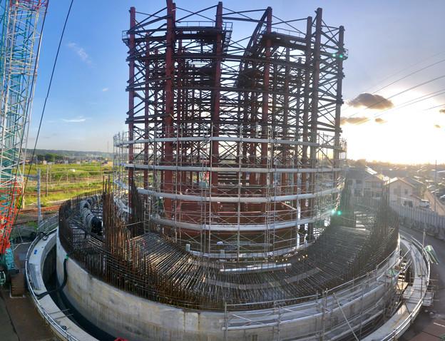 建設中のリニア中央新幹線 神領非常口(2020年9月8日) - 5:Microsoft Pixの「Photosynth」で撮影