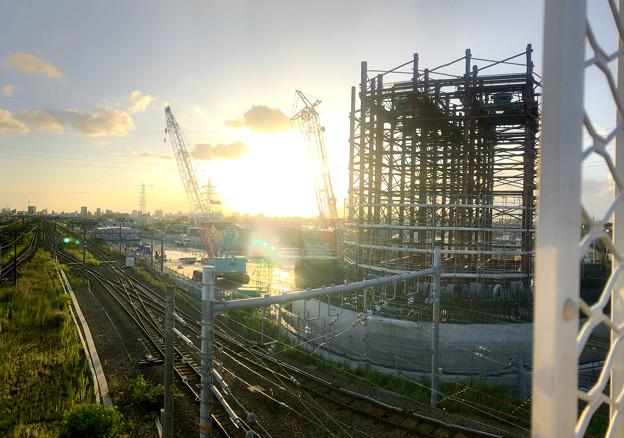 建設中のリニア中央新幹線 神領非常口(2020年9月8日) - 6:Microsoft Pixの「Photosynth」で撮影