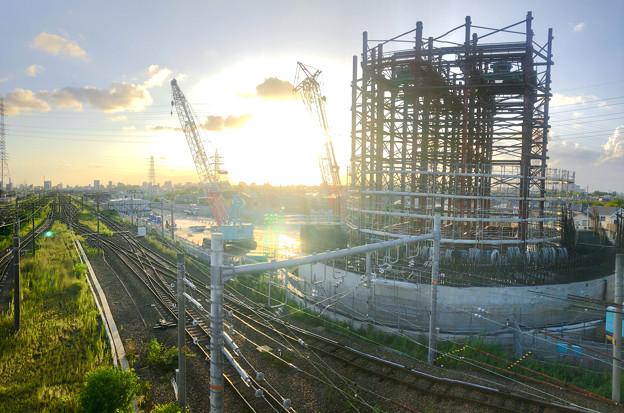 建設中のリニア中央新幹線 神領非常口(2020年9月8日) - 7:Microsoft Pixの「Photosynth」で撮影