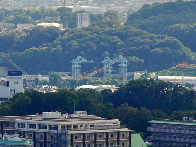 西高森山山頂から見た景色 - 5:建設中のリニア中央新幹線の非常口