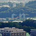 Photos: 西高森山山頂から見た景色 - 5:建設中のリニア中央新幹線の非常口