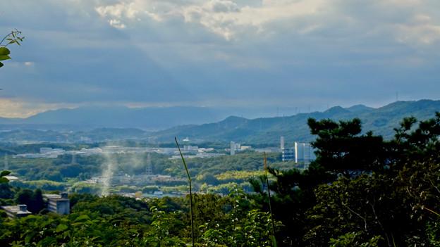 西高森山山頂から見た景色 - 10:神屋工業団地と尾張白山