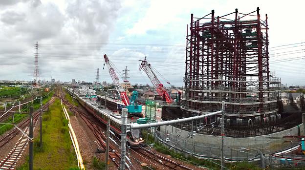 建設中のリニア中央新幹線 神領非常口(2020年9月13日) - 2:パノラマ