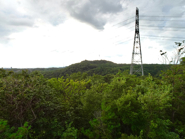 春日井市少年自然の家「野外教育センター」展望台から見た景色 - 16:西高森山