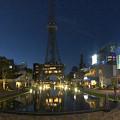 リニューアルした久屋大通公園「レイヤード・ヒサヤオオドオリ・パーク」のパノラマ写真(夜)