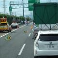 Photos: 東名高速 小牧JCT~小牧インター間で起きていたワゴン車の横転事故(2020年9月) - 1