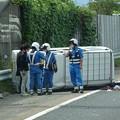 Photos: 東名高速 小牧JCT~小牧インター間で起きていたワゴン車の横転事故(2020年9月) - 3