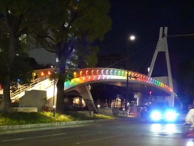 久屋大通公園セントラルブリッジの虹のイルミネーション - 1