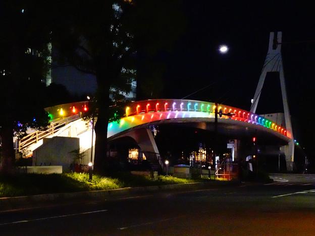 久屋大通公園セントラルブリッジの虹のイルミネーション - 2