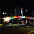 久屋大通公園セントラルブリッジの虹のイルミネーション - 3