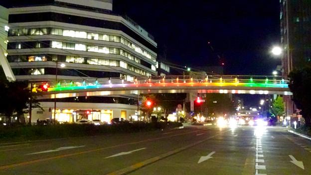 久屋大通公園セントラルブリッジの虹のイルミネーション - 4