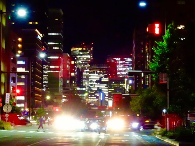 WX800のピクチャーエフェクト「ポップ」で撮影した桜通久屋交差点から撮影した名駅ビル群 - 1